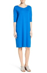 Eileen Fisher Women's V Neck Jersey Shift Dress