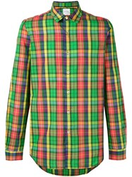 Paul Smith Checked Shirt Men Cotton L Green