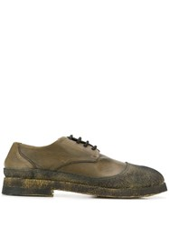 Rocco P. Distressed Lace Up Shoes Green