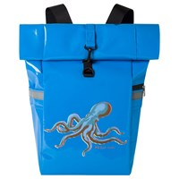 Paul Smith Ps Octopus Print Roll Top Backpack Light Blue