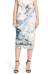 Women's Ted Baker London 'Sinda' Print Midi Pencil Skirt