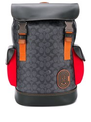 Coach Rivington Backpack In Signature Canvas Black