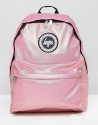 Hype Metallic Pink Pearl Effect Backpack Peached