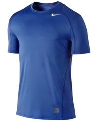 Nike Pro Cool Fitted Dri Fit Shirt Game Royal White