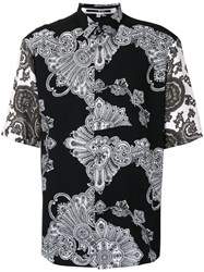 Mcq By Alexander Mcqueen Printed Shirt Men Viscose 50 Black