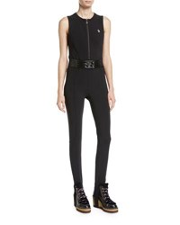 Moncler Tuta Belted Stirrup Jumpsuit Black