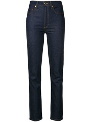 Khaite High Rise Regular Jeans Blue