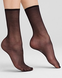 Hue Sheer Anklet Socks Black