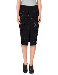 Jovonna Knee Length Skirts Black