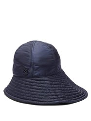 Maison Michel Julianne Bucket Hat Navy