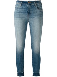 J Brand Faded Skinny Jeans Blue