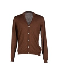 Private Lives Knitwear Cardigans Men Cocoa