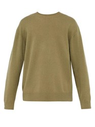 Raey Sloppy Crew Neck Cashmere Sweater Khaki