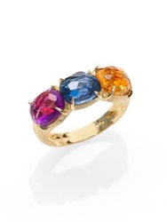 Marco Bicego Murano Citrine Blue Topaz Pink Tourmaline And 18K Yellow Gold Ring Gold Multi