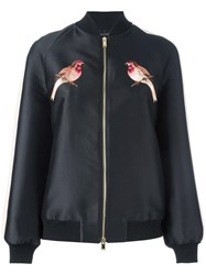 Stella Mccartney Embroidered Western Robin Jacket Black