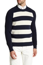 Lands' End Rugby Stripe Crew Neck Sweater Multi
