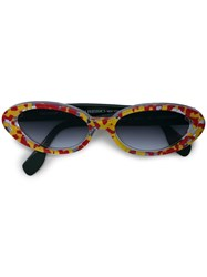 Rosie Assoulin Clear Framed Sunglasses Yellow And Orange