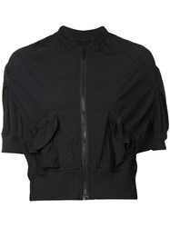 Kolor Cropped Bomber Jacket Black