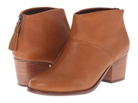 Toms Leila Booties Warm Tan Leather Women's Boots Brown