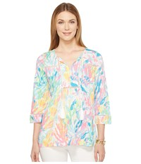 Lilly Pulitzer Tilda Tunic Multi Sparkling Sands Women's Blouse