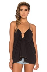 Blue Life Criss Cross Back Tank Black