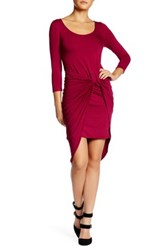 Vanity Room Asymmetrical Knot Dress Petite Pink