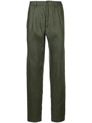Cerruti 1881 Slim Fit Trousers Spandex Elastane Green
