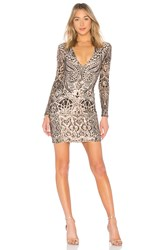 Nookie Shanina Sequin Mini Dress Metallic Bronze