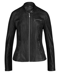 Olsen Faux Leather Jacket Grey