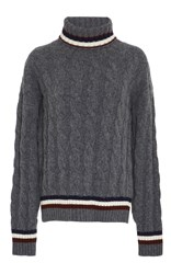 Anddaughter Rodeen Cricket Cableknit Sweater Grey