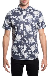 7 Diamonds 'Better Place' Trim Fit Floral Short Sleeve Woven Shirt