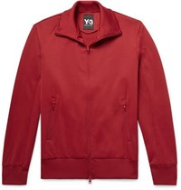 Y 3 Logo Print Tech Jersey Track Jacket Red
