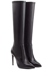 Ralph Lauren Collection Leather Knee Boots Black