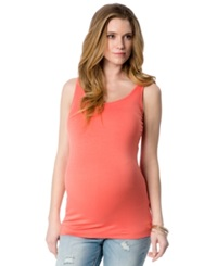 A Pea In The Pod Maternity Wide Strap Solid Tank Top Coral