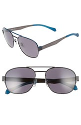 Boss Men's 58Mm Polarized Navigator Sunglasses Matte Blue Smoke Matte Blue Smoke