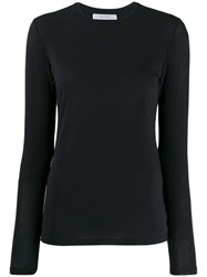 Max Mara Plain Long Sleeved Top Blue
