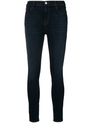 J Brand High Waisted Skinny Jeans Blue