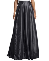 Halston Heritage Long Taffeta Ball Skirt Charcoal