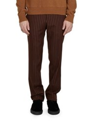 Givenchy Pin Striped Wool Pants Rust