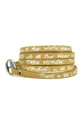 Good Work S Make A Difference Wrap Around Sacred Scripture Leather Bracelet Beige
