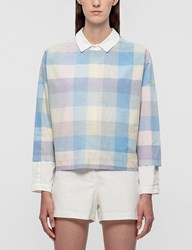Maison Kitsune Check Crop Top