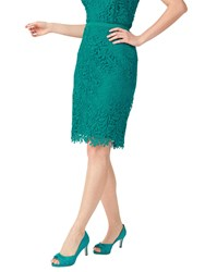 Jacques Vert Petite Leaf Lace Skirt Bright Green