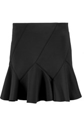 Derek Lam 10 Crosby By Fluted Stretch Neoprene Mini Skirt Black