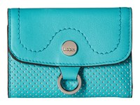 Lodis Accessories Sunset Boulevard Mallory French Purse Teal Wallet Handbags Blue