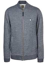 Pretty Green Ranford Zip Sweater Navy