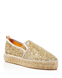 Charles By Charles David Sancha Glitter Espadrille Flats Compare At 150 Gold