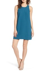 Leith Racerback Shift Dress Teal Seagate