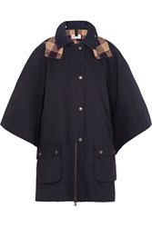 Red Valentino Cotton Mackintosh Cape Blue