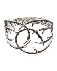 Stephen Webster Black Sapphire And Diamond Thorn Cuff