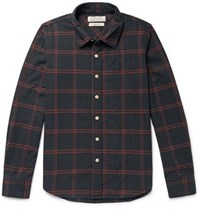 Remi Relief Checked Cotton Blend Shirt Black